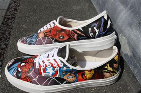 Vans Marvels Comic custom vans ftw marvel comics vans