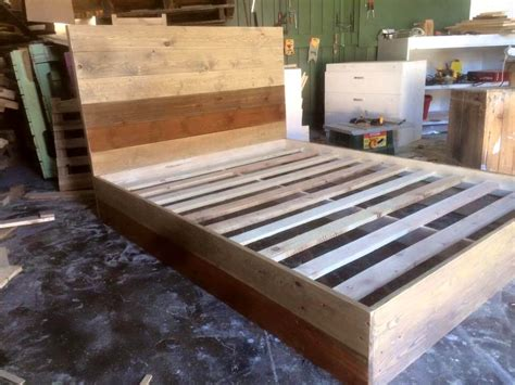 diy wood pallet bed recycled pallets bed 101 pallets