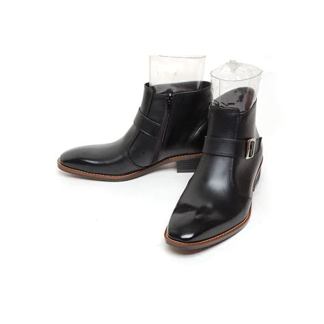 high heel ankle boots with buckles s plain toe buckle side zip high heel ankle boots