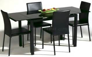 Black Dining Table Chairs Black Glass Top Modern Dining Table W Optional Chairs