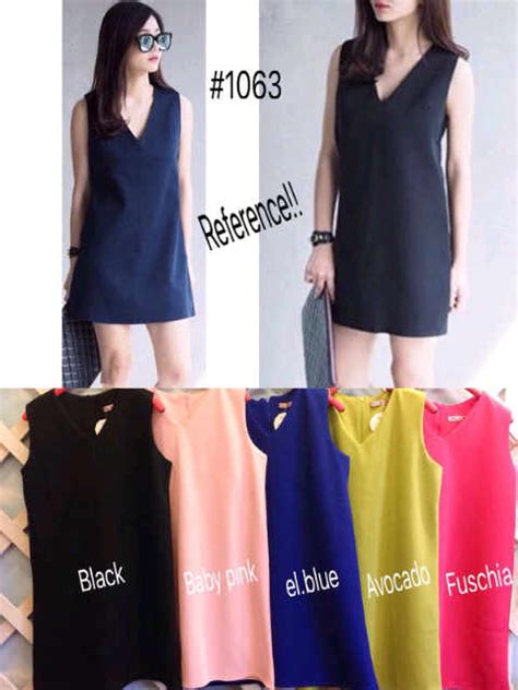 Dress Sabrina 35880 Bhn Scuba Fit L mini dress korea i l o v e f a s h i o n s s