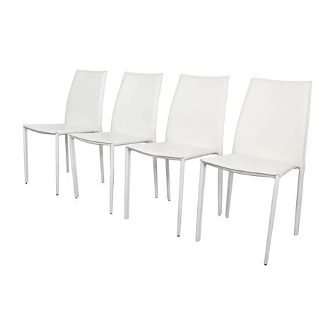 White Leather Dining Chairs 77 All Modern All Modern White Leather Dining Chairs Chairs