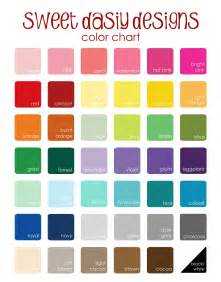 color chart sweet designs 2013 updated color chart