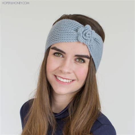 crochet flower headband allfreecrochet