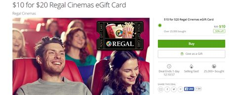 Groupon Uber Gift Card - ymmv groupon 20 regal cinema gift card for 10 doctor of credit
