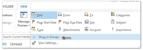 Office 365 Outlook Disable Conversations How To Enable And Disable Showing In Groups In Outlook