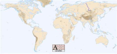 world map showing rivers world atlas the rivers of the world yenisei yenise 239