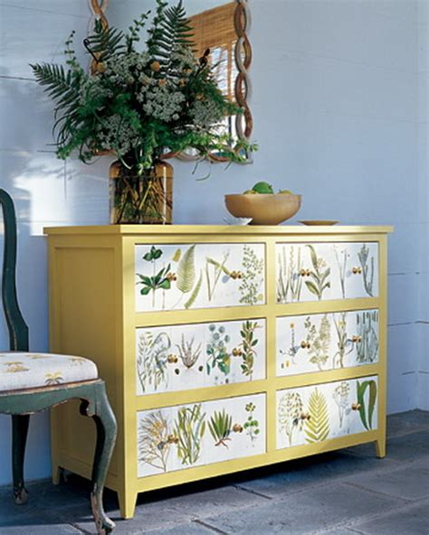 decoupage martha stewart diy ideas to dress up a dresser tidbits twine