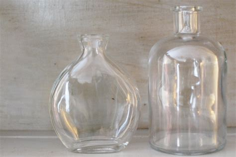 Dollar Store Glass Vases by Refinished Gray Hutch Furniture With Purple Accents