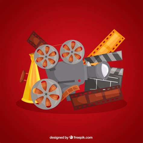 graphics design and multimedia background of typical film elements vector free download