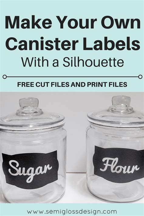 kitchen canister labels diy kitchen canister labels with a silhouette with free