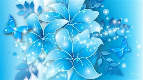 Blue Floral blue flower wallpapers wallpaper cave