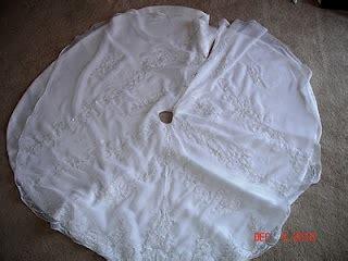 Wedding gown into christmas tree skirt 171 weddingbee boards i ve been
