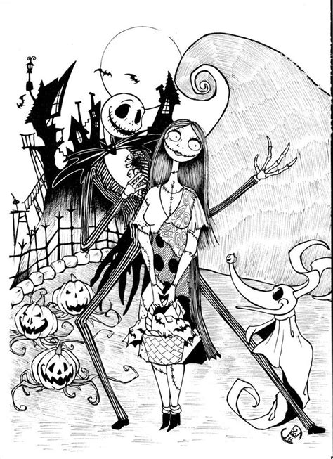 coloring page of nightmare before christmas jack skellington coloring pages printable coloring pages