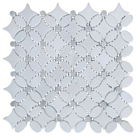 flower pattern mosaic tile carrara white marble flower pattern mosaic tile