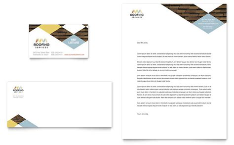 Roofing Contractor Business Card Letterhead Template Design Roofing Business Card Templates