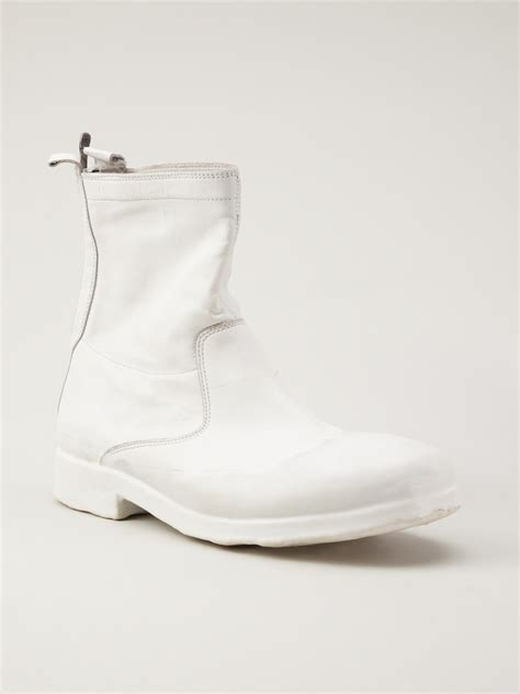 mens white rubber boots oxs rubber soul ankle boot in white for lyst