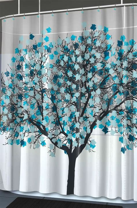 graphic shower curtain new foliage blue unique tree graphic home shower curtain