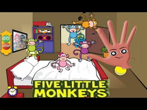 five little monkeys jumping on the bed song five little monkeys jumping on the bed finger family