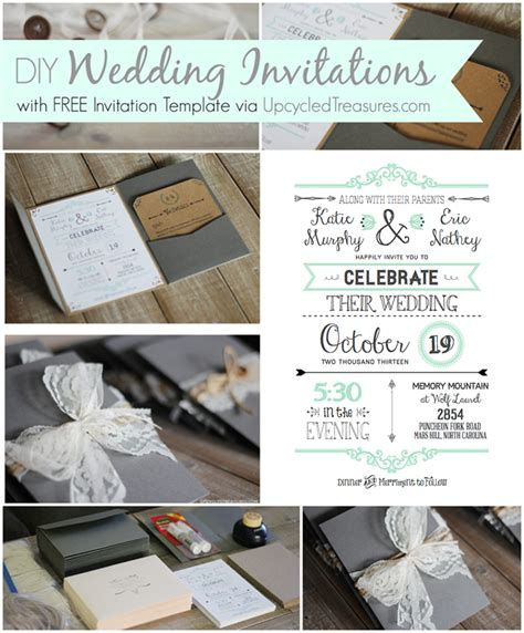 diy wedding invitations templates 10 free wedding printables for the crafty
