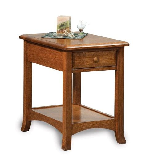 Accent Table With Drawers by Amish Carlisle Open End Table With Drawer