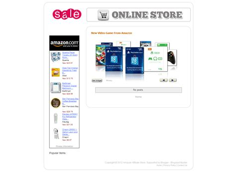 Template Simple Amazon Store Simple Store Template