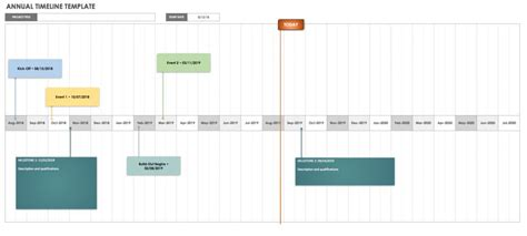 Yearly Timeline Template Excel Free Blank Timeline Templates Smartsheet