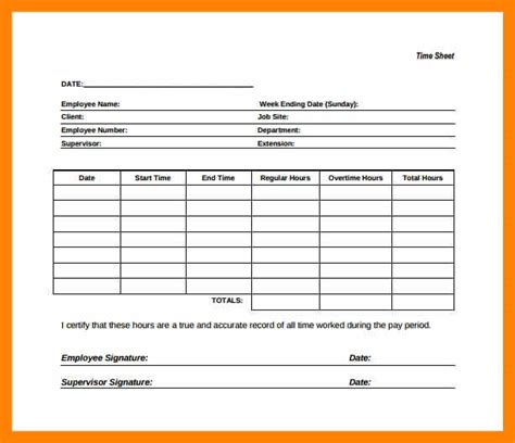 sle blank timesheet timesheet template word monthly