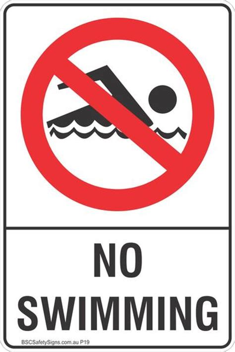 Sticker Safety Sign Traffic Sign No no swimming safety sign prohibited stickers restricted area labels bsc safety signs