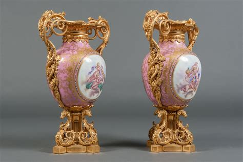 sevres porcelain gilt bronze mounted jeweled