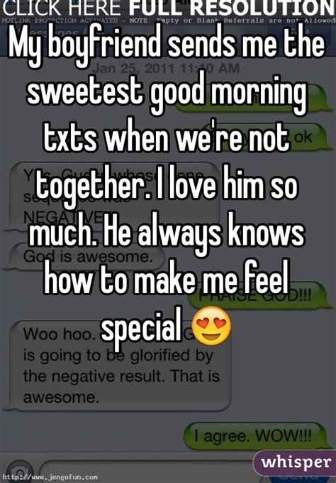 living together good for some not so much for others my boyfriend sends me the sweetest good morning txts when