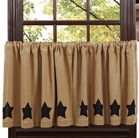 Burlap Cafe Curtains Burlap Black Tiers By The Patch