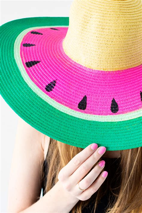 diy diy watermelon floppy hat studio diy