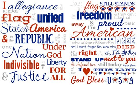 printable lyrics to the pledge of allegiance get crafting 4th of july diy series