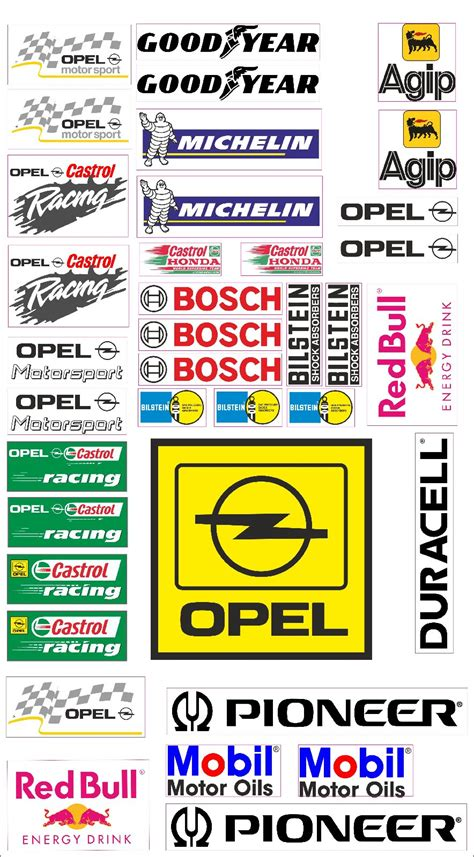Tuning Aufkleber Auto Shop by Opel Logo Autoaufkleber Sponsoren Marken Aufkleber Decals