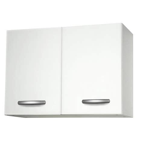 meuble de cuisine haut 2 portes blanc h57 9x l80x p35 2cm leroy merlin