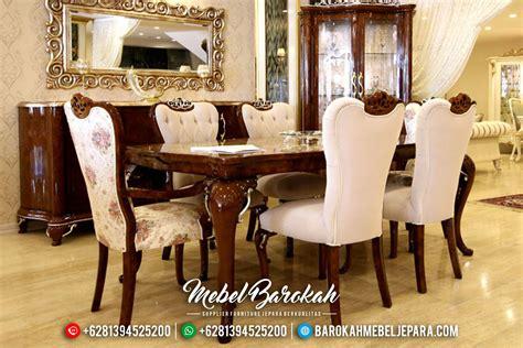 Meja Makan Set Jepara meja makan mewah jepara terbaru duco putih silver escaze
