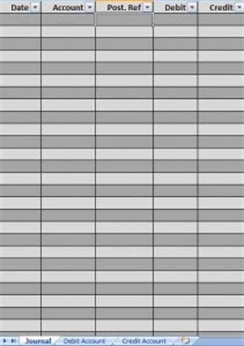 general ledger general ledger templates