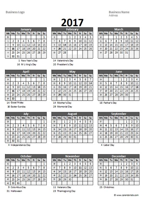 excel spreadsheet calendar template 2017 yearly spreadsheet calendar free printable templates