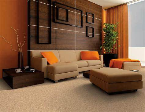 Livingroom Color Ideas by Warm Color Wall Paint And Brown Shades Sofa Design Ideas