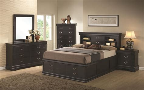 louis bedroom louis philippe 201079 bedroom in black by coaster w options