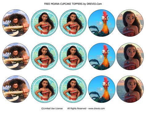 moana boat cupcake toppers free printable moana birthday invitation templates