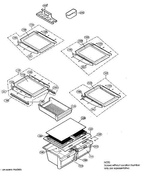 kenmore elite refrigerator parts diagram refrigerator parts diagram parts list for model