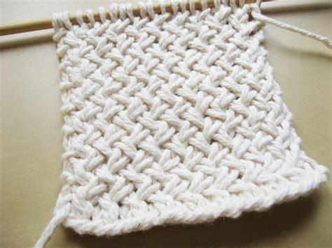 basket weave knit stitch sewing for diagonal basketweave knitting pattern