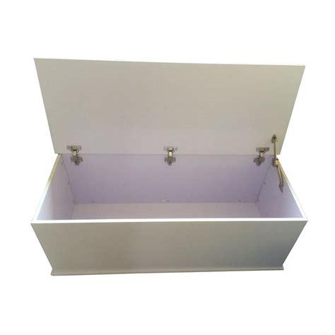 Ottoman Storage Chest White Large Wooden Ottoman Storage Chest With Lid Customer Return Ebay