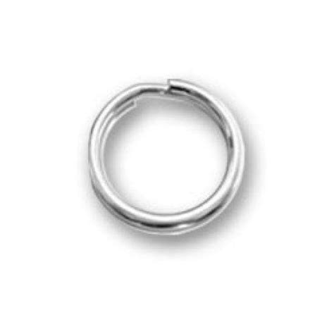 2 x 6mm sterling silver split ring thecharmworks