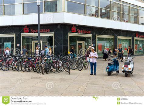 sparkasse bank berlin office sparkasse at alexanderplatz editorial image image