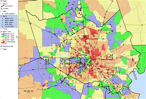 houston map by income shapefile proximityone