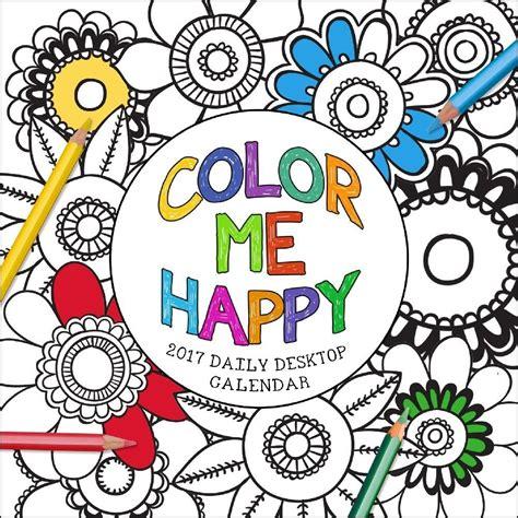 what color is happy color me happy desk calendar 9781624387906 calendars com
