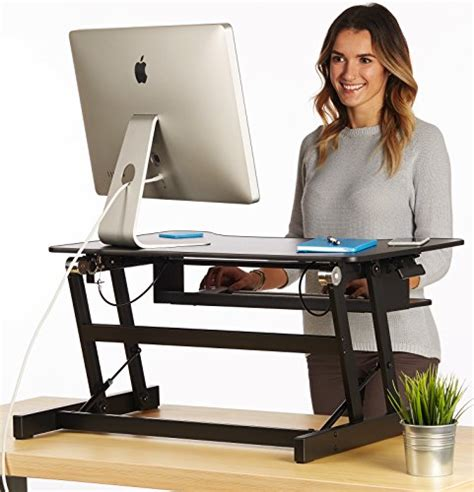The House Of Trade Standing Desk Height Adjustable Sit To Stand Up Desk Office